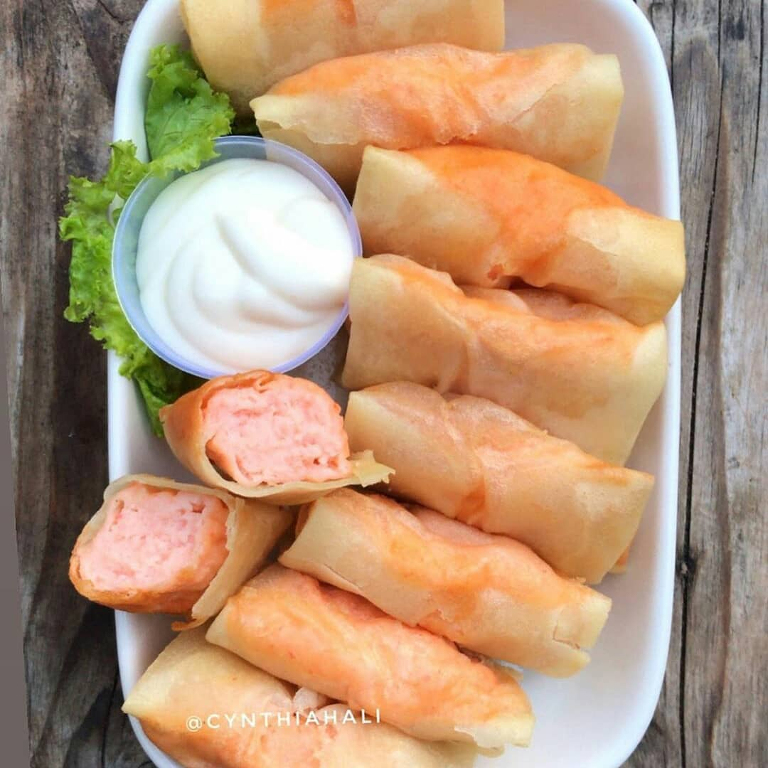 Lumpia udang mayones