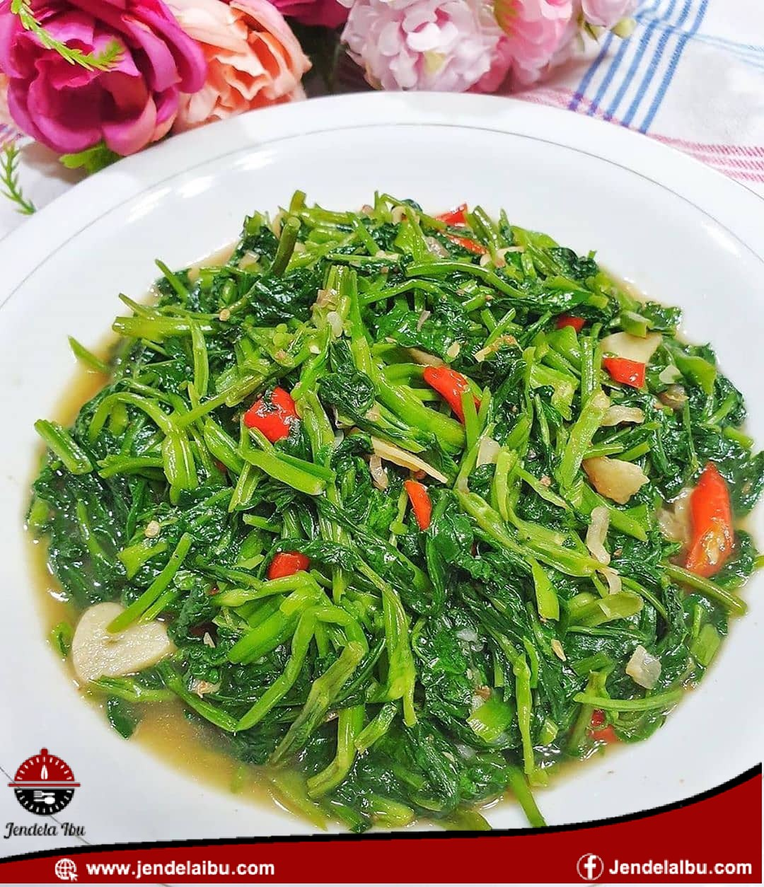 Water spinach paste